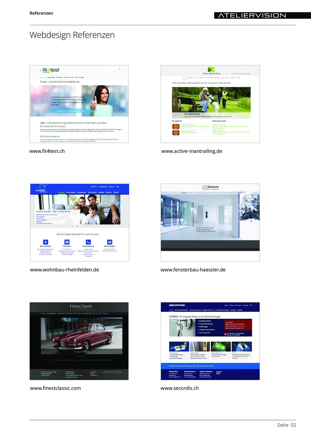 ATELIERVISION Referenzen aus PDF Datei Overview 2