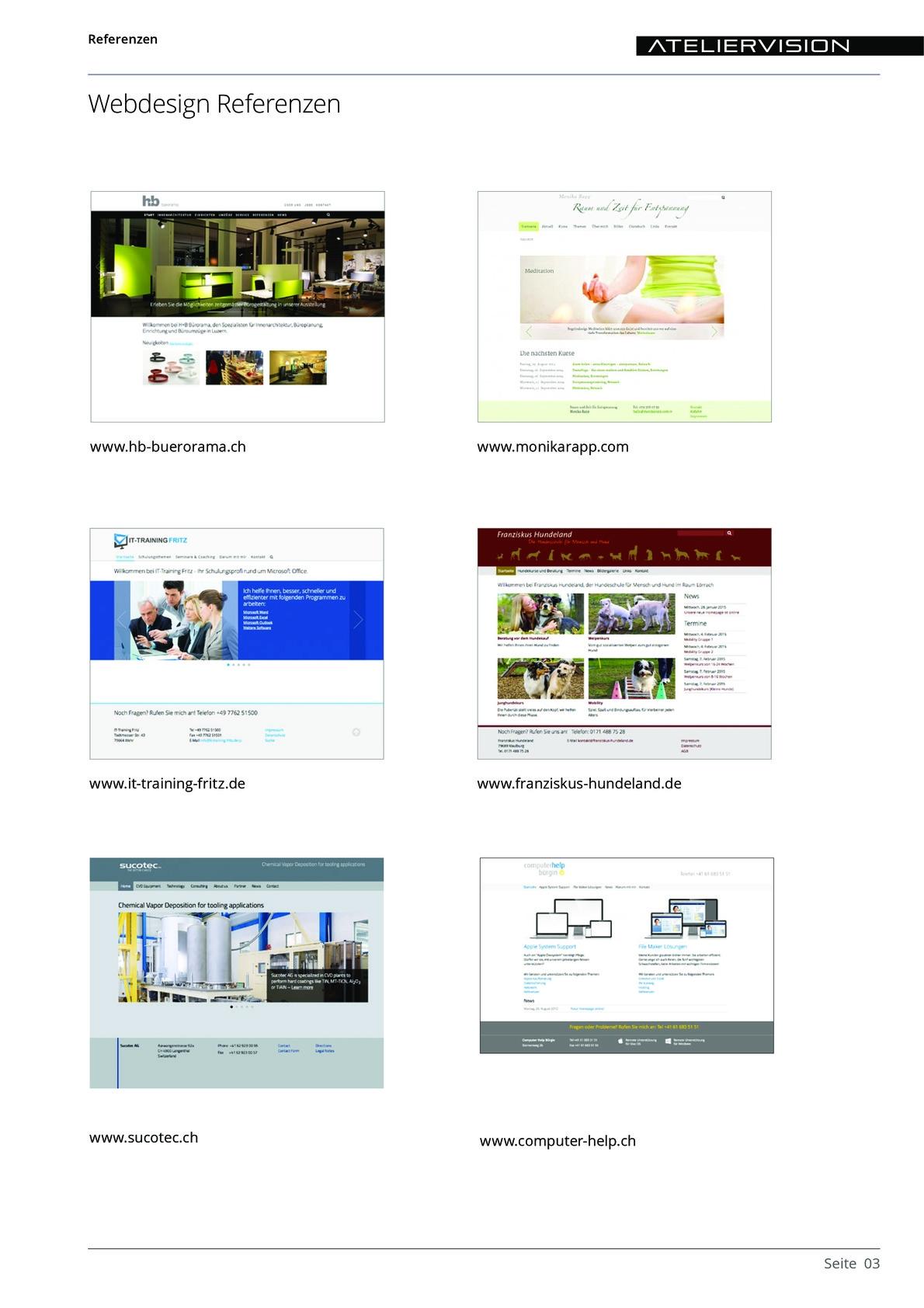 ATELIERVISION Referenzen aus PDF Datei Overview 3