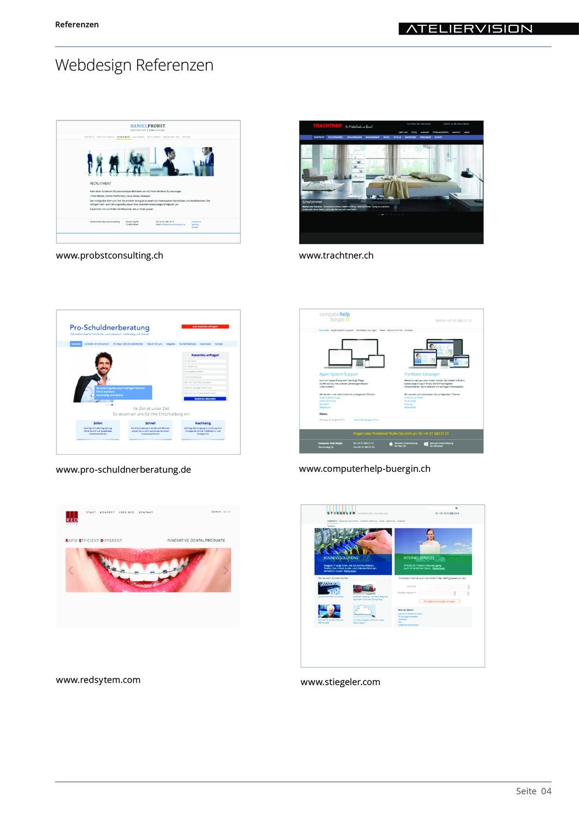 ATELIERVISION Referenzen aus PDF Datei Overview 4