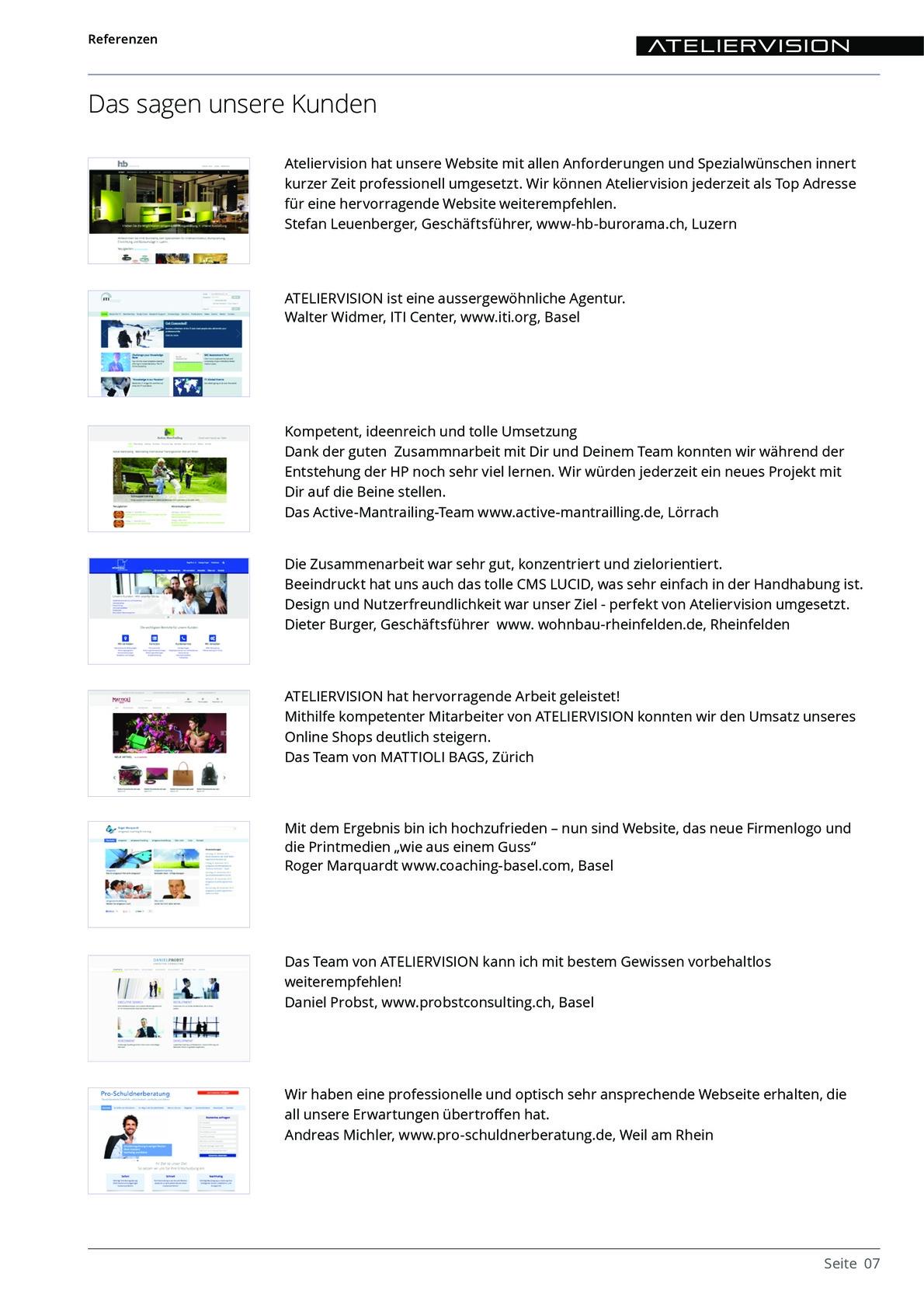 ATELIERVISION Referenzen aus PDF Datei Overview 7