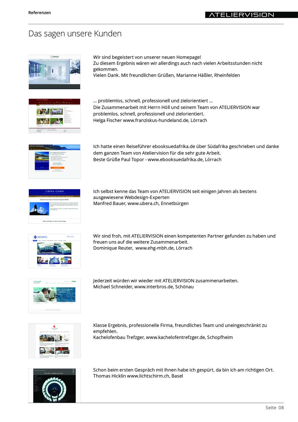 ATELIERVISION Referenzen aus PDF Datei Overview 8